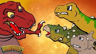 Best Dino Songs #1 | Dinosaur Battles and More Dinosaur Songs from Dinostory by Howdytoons