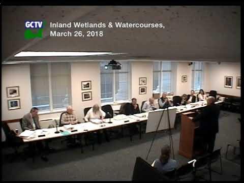 Inland Wetlands & Waterways Agency, March 26, 2018