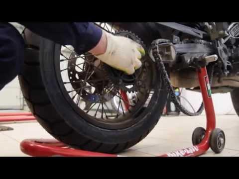 Снятие и установка заднего колеса мотоцикла