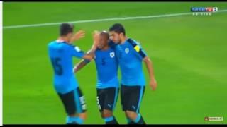 primeiros gols do uruguai x peru