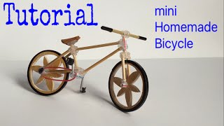 How to Make a Bicycle - Mini Homemade Bike - Tutorial width=