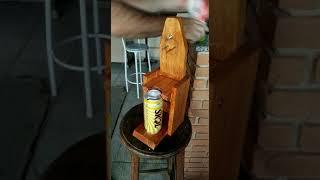 """Furador de lata de cerveja """"na bundinha""""!"""