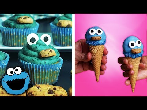 How to Make Cookie Monster Brownies, Cupcakes and Ice Cream Cones | Easy Dessert Ideas by So Yummy