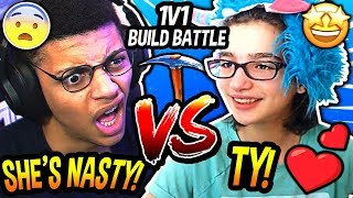 Myth SHOCKED After Being CHALLENGED By EWOK To A 1V1 Build Battle & ALMOST LOSING!!