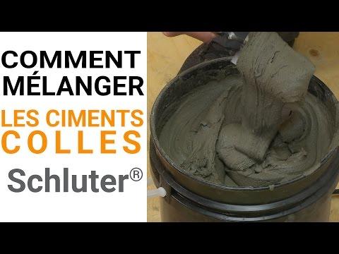 Comment mélanger les ciments-colles Schluter®