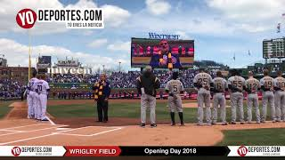 Wayne Messmer US National Anthem Chicago Cubs Opening Day 2018
