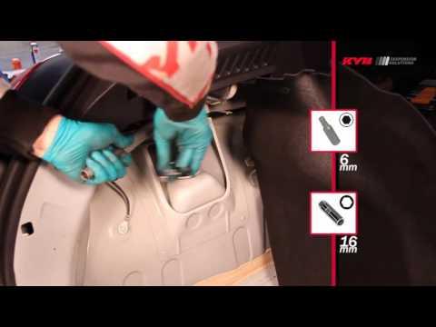 RENAULT Clio III, Clio III Grandtour - REAR - Задние амортизаторы KYB установка