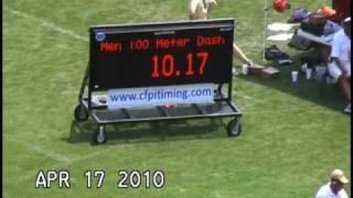 Big South Mens 100meter.wmv