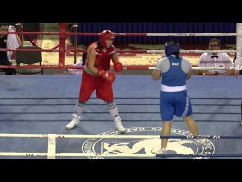 Kazakhstan women's boxing championships 2016, final, +81 kg