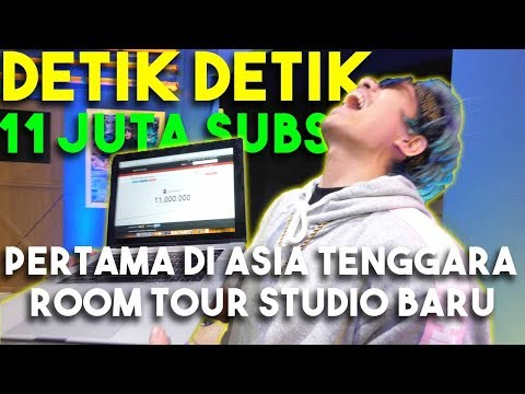 Download Video Detik Detik 11 JUTA Subs Pertama Di Asia Tenggara + Room Tour Studio Baru...