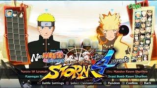 Naruto Shippuden Ultimate Ninja Storm 4 - Character Selection Screen (All Characters) 1080P 60FPS