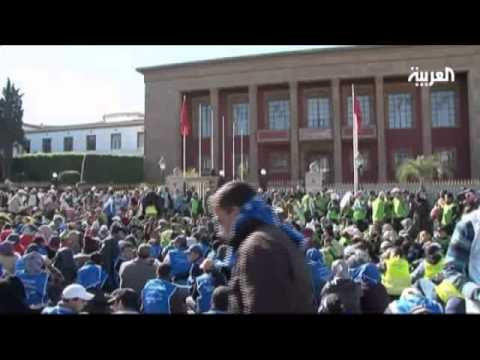 Moroccan youth protest unemployment
