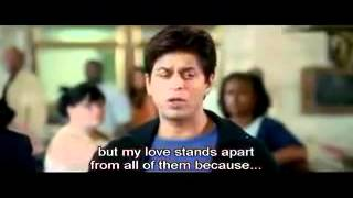 Kal Ho Na Ho - One Of The Best Scene I Love You Naina Eng Sub