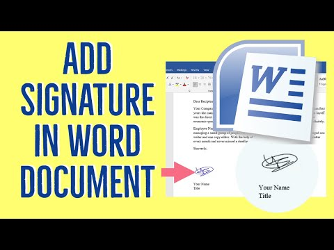 How to Create And Add an Electronic Signature in Microsoft Word (2021)