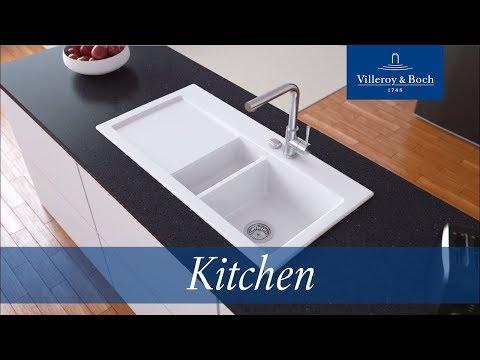 Installation surface-mounted kitchen sinks | Villeroy & Boch