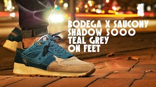 Bodega X Saucony Shadow 5000 Teal Grey On Feet