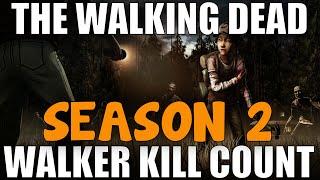 Telltale The Walking Dead: Season 2 Walker Kill Count! (TWD Telltale Games)