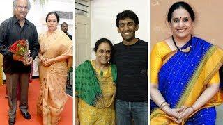 Actor Subhalekha Sudhakar  with wife sailaja & son Family Photos