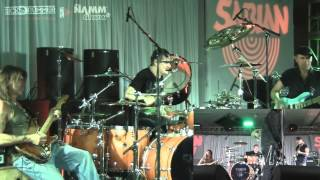 "NAMM 2013 Sabian Live - Korn ""Blind"" by Ray Luzier, George Lynch, Billy Sheehan and Brian Welch."