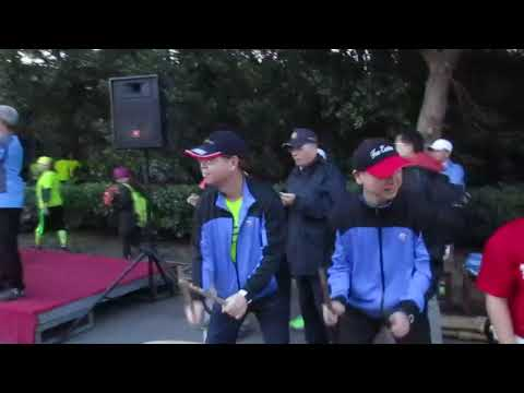 1061105文山獅陣鼓陣假日凌晨支援遠東新世紀馬拉松路跑鳴槍後加油助陣情景 - YouTube