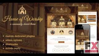 Preview House Of Worship - Church WordPress Theme TForest
