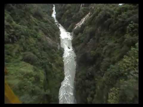 Mugdhho's first Canyon Swing, Last Resort, Nepal