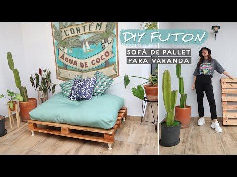 DIY Eu fiz um Futon / Sofá de Pallet para Varanda! – Decorando a Varanda 01