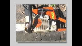 How to start the Stihl MS-250 chainsaw