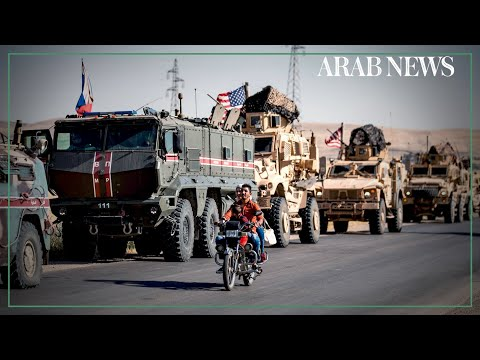 US and Russian military patrols seen on northeast Syria road