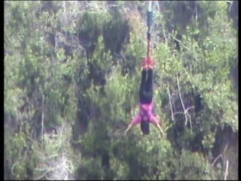 Megha's Bungy Jump from the Bloukrans Bridge, South Africa