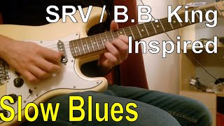 B.B. King/Stevie Ray Vaughan Inspired Slow Blues in Cm