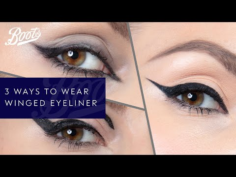 boots.com & Boots Voucher Code video: Make-up Tutorial | Three Ways To Wear Winged Eyeliner | Boots UK
