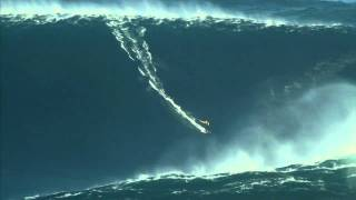 Garrett McNamara rides 90 Foot Wave With Gopro Cam (Full Video)