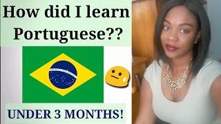 HOW DID I LEARN PORTUGUESE?? | with English subtitles | Como eu aprendi Português😱