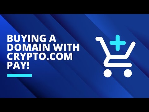 Buying a domain with Crypto.com Pay!