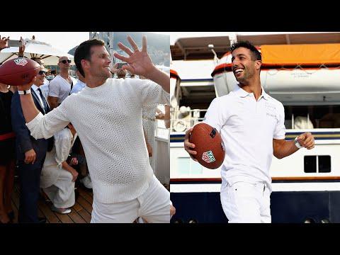 Tom Brady finds Daniel Ricciardo in the deep at the Monaco Grand Prix!