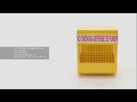 Cylinder Storage Cabinets CYL-LP-4-CA