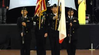 CECA Ball 2014 Colorguard & National Anthem