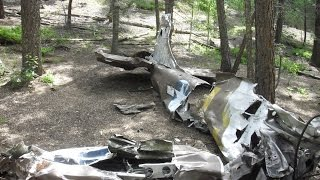 Military airplane crash site - Rampart Range, Pike National Forest, Colorado
