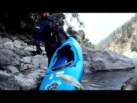 Annapurna Downside Part 4.  Paddling down the Sun Kosi and Balephi Khola Rivers