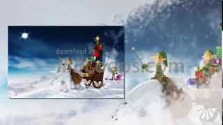 Christmas Motion Backgrounds Snowman