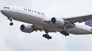 United Airlines - Plane Spotting at London Heathrow Airport - Boeing 777 767 757 [1080p HD]