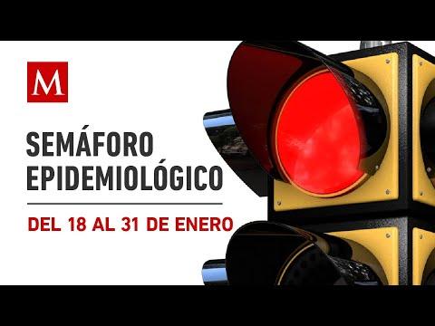 Semáforo epidemiológico nacional, del 18 al 31 de enero