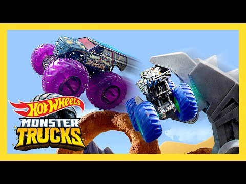 Monster Trucks take down GIANT SCORPION! | Monster Trucks Island | Hot Wheels