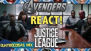 VINGADORES REAGEM AO TRAILER DE LIGA DA JUSTIÇA (LEGENDADO) Avengers react to Justice League Trailer