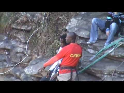 Chris Strikes Gorge Jumping Off Oribi Gorge in South Africa 2010