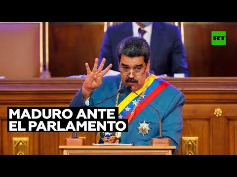 Los temas claves del mensaje de Maduro ante el Parlamento