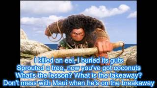 "Maui ""You're Welcome"" with Lyrics"