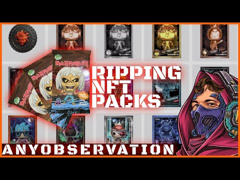 Ripping a bunch of Iron Maiden NFT packs!