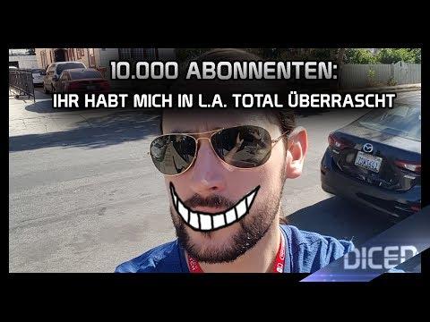 Denis' VLOG | 10.000 Abos!!! | DANKE an Euch aus Los Angeles | DICED